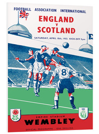 Foam board print  england vs scotland 1953 - Sporting Frames