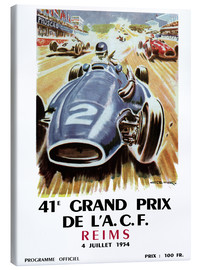 Canvas print  grand prix reims - Sporting Frames