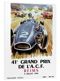 Foam board print  grand prix reims - Sporting Frames