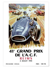 Poster  grand prix reims - Sporting Frames