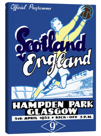 Canvas print  scotland vs england 1952 - Sporting Frames