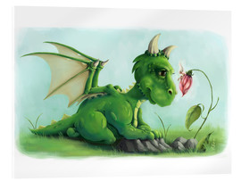 Acrylic print  Dragon with a little fairy - Alexandra Kreipl