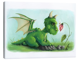 Canvas print  Dragon with a little fairy - Alexandra Knickel