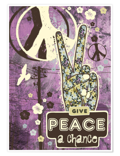 Premium poster Give Peace A Chance
