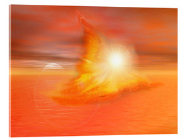 Acrylic print  The Fire Angel - Dolphins DreamDesign