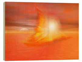 Wood print  The Fire Angel - Dolphins DreamDesign