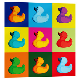 Acrylic glass  Pop art duck - coico