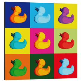 Alu-Dibond  pop art duck - coico