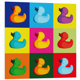 Foam board print  Pop art duck - coico