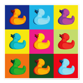 Premium poster  Pop art duck - coico
