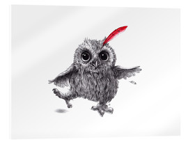 Acrylic glass  Chief Red - Happy Owl - Stefan Kahlhammer
