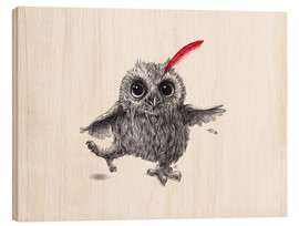 Wood print  Chief Red - Happy Owl - Stefan Kahlhammer