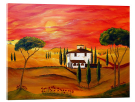 Acrylic glass  Warmth of Tuscany - Christine Huwer