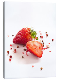 Canvas print  Strawberries with red peppercorns - Edith Albuschat