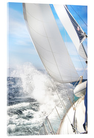 Acrylic print  Sailing through the storm - Jan Schuler