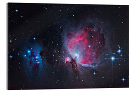 Acrylic glass  Great Orion Nebula & Running Man - Alexander Voigt