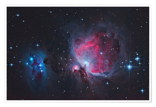 Premium poster Great Orion Nebula & Running Man