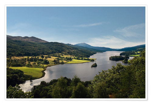 Premium poster Scotland - Queen's View at Loch Tummel