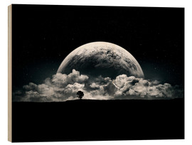 Wood print  The Rise of a Planet II - Tobias Roetsch