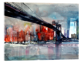 Acrylic print  New York, Brooklyn Bridge IV - Johann Pickl