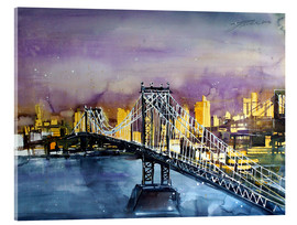 Acrylic glass  New York, Manhattan Bridge - Johann Pickl