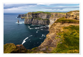 Premium poster Cliffs of Moher, Ireland