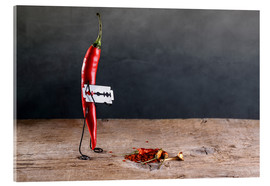 Acrylic glass  Simple Things - Sharp Chili Pepper - Nailia Schwarz