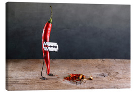 Canvas  Simple Things - Sharp Chili Pepper - Nailia Schwarz