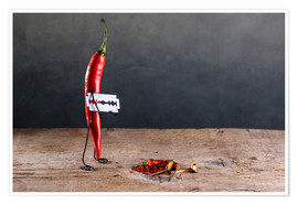 Poster  Simple Things - Sharp Chili Pepper - Nailia Schwarz