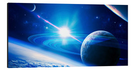 Aluminium print  A view of a planet - Kevin Lafin