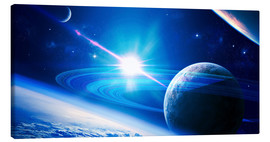 Canvas print  A view of a planet - Kevin Lafin
