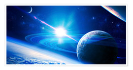 Premium poster  A view of a planet - Kevin Lafin
