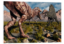 Forex  A confrontation between a T. Rex and a Spinosaurus dinosaur - Mark Stevenson