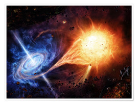 Poster  A binary system orbiting near a black hole - Brian Christensen