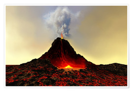 Premium poster  An active volcan - Corey Ford