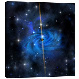 Canvas print  A dense star cluster forms this galaxy out in space. - Corey Ford