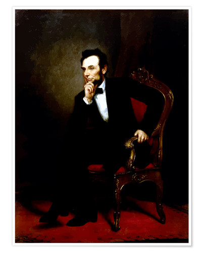 Premium poster Digital restored image of Abraham Lincoln