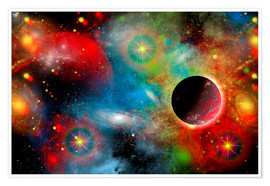 Premium poster  colorful universe - Mark Stevenson