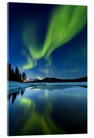 Acrylic glass  Aurora Borealis over Sandvannet Lake - Arild Heitmann