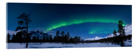 Acrylic print  Aurora over Nova Mountain Wilderness - Arild Heitmann