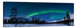 Canvas print  Aurora over Nova Mountain Wilderness - Arild Heitmann