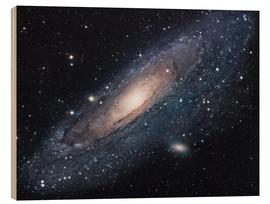 Wood print  The andromeda galaxy - Robert Gendler