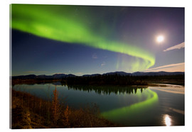 Acrylic glass  Aurora Borealis over the Yukon River - Joseph Bradley