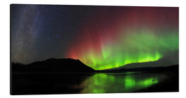Aluminium print  Polar Lights, Milky Way and Big Dipper - Joseph Bradley