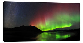 Canvas print  Polar Lights, Milky Way and Big Dipper - Joseph Bradley