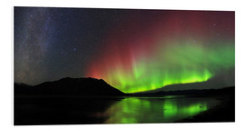 Foam board print  Polar Lights, Milky Way and Big Dipper - Joseph Bradley