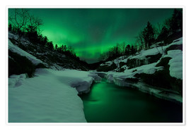 Poster Aurora Borealis over Tennevik River