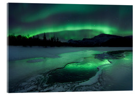 Acrylic glass  Aurora Borealis in Norway - Arild Heitmann