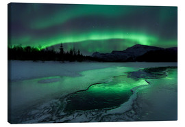 Canvas  Aurora Borealis in Norway - Arild Heitmann