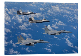 Acrylic print  Two F-15 Eagles and F-22 - HIGH-G Productions